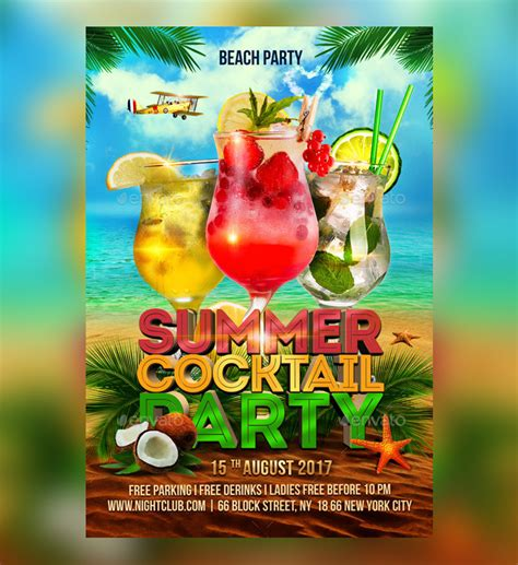 cocktail flyer 25 cocktail flyer psd templates free premium