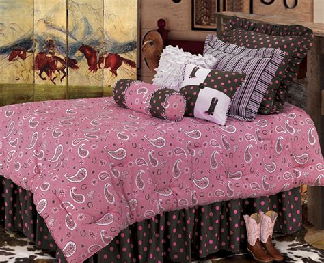 cowgirl bedding pink paisley comforter set bedding bedspread sk