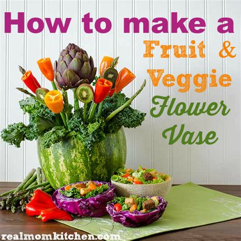Food For Flowers In Vase by How To Make A Fruit And Vegetable Flower Vase
