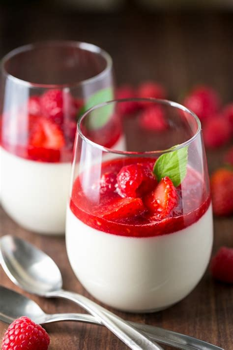 panna cotta panna cotta with berry sauce recipe
