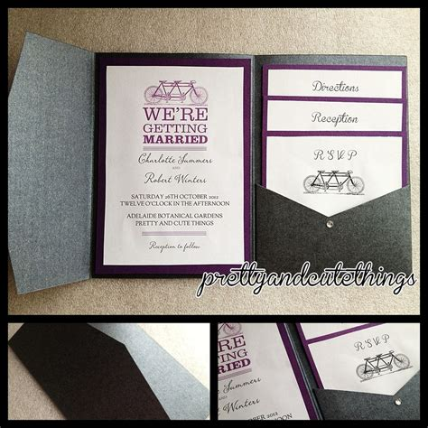 wedding invitation with pocket black metallic shimmer wedding invitations diy pocket