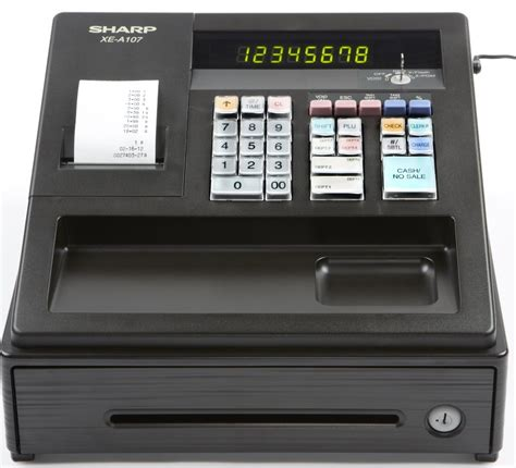 Register Sharp Xe A107 sharp xe a107 register reconditioned copyfaxes