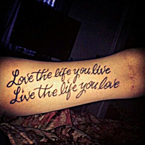 love the life you live tattoo biceps tattoos and designs page 194