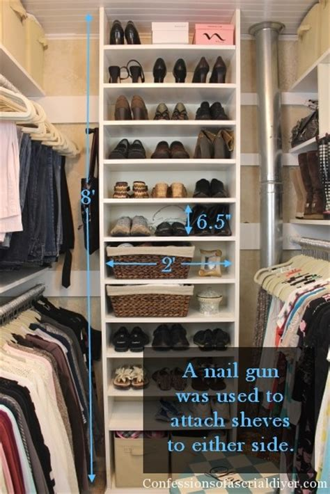 How To Build Shoe Shelves In Closet by How A Built Closet Confessions Of A Serial Do