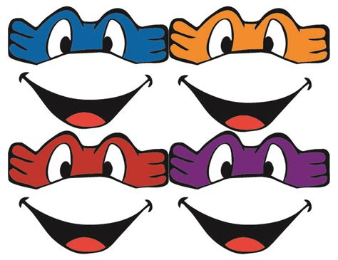 printable tmnt mask template template for ninja turtle mask google search vinyl