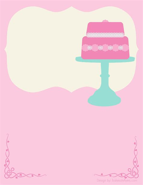 printable letter templates for cake decorating free bake sale flyer template cake could totally see