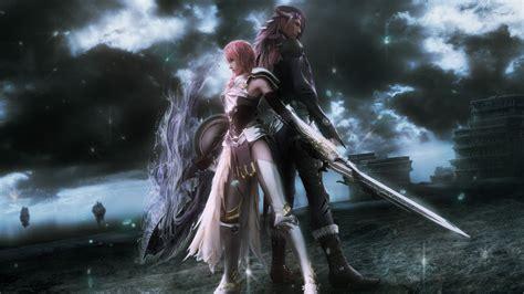 wallpaper game final fantasi lightning and caius final fantasy xiii 2 wallpaper