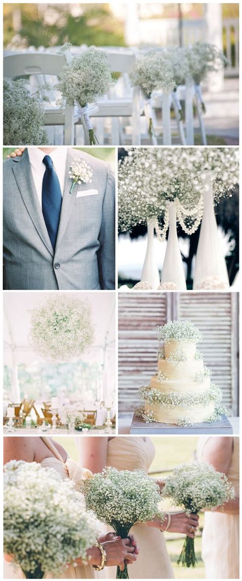 affordable wedding flowers baby s breath wedding