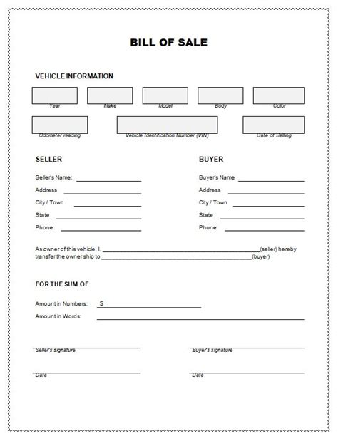 Bill Of Sale Alabama Real Estate Forms Auto Bill Of Sale Oklahoma Template