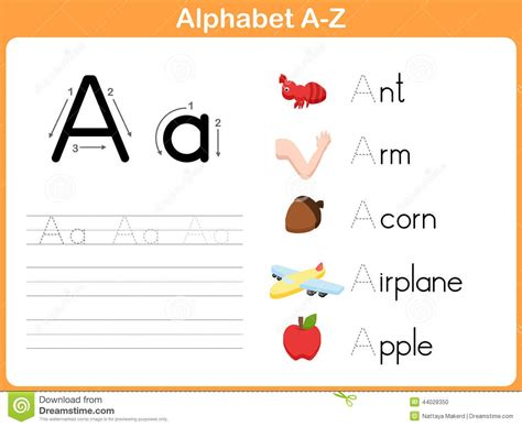kindergarten alphabet worksheets a z homeshealth info