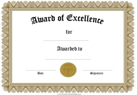 formal award certificate template formal blank award certificate template sle helloalive