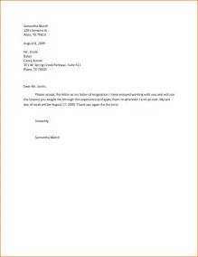 Resignation Letter Effective Immediately 4 resignation letter sle effective immediately