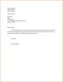 4  resignation letter sample effective immediately
