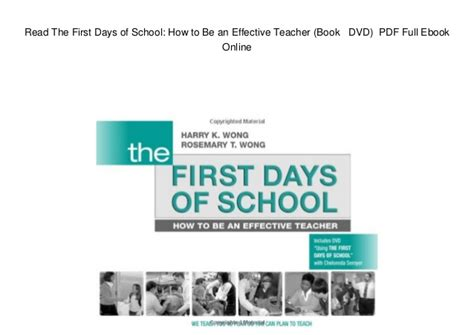 Effective Telephoning Teachers Book Original read the days of school how to be an effective book