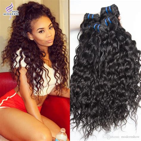 wet and wavy human hair weave hairstyles brazilian virgin hair water wave 3 bundles wet and wavy