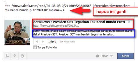 membuat link facebook membuat judul berita berubah dari link aslinya di facebook