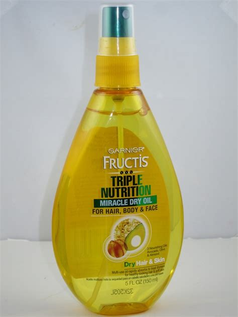 garnier fructis triple nutrition miracle dry oil for hair body garnier fructis triple nutrition miracle dry oil for hair