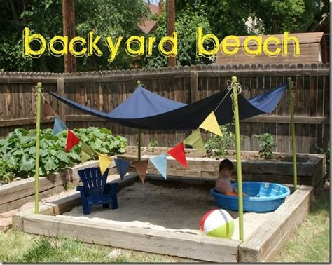 how to turn your backyard into a beach backyard beach sandbox w canopy cover backyard
