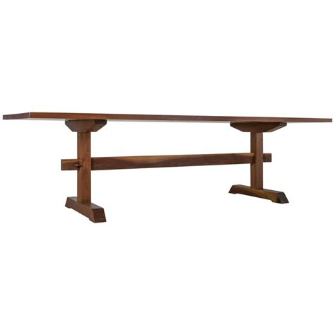 Rudes Furniture by Rude Osolnik Unique And Walnut Trestle Table Usa 1960s For Sale At 1stdibs