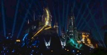 light spectacular the new wizarding world of harry potter light show at