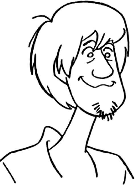 picture of shaggy from scooby doo az coloring pages