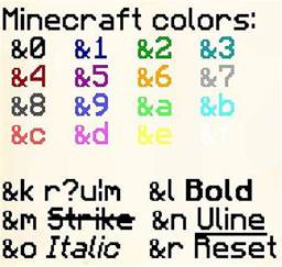 minecraft nickname colors image gallery minecraft colors