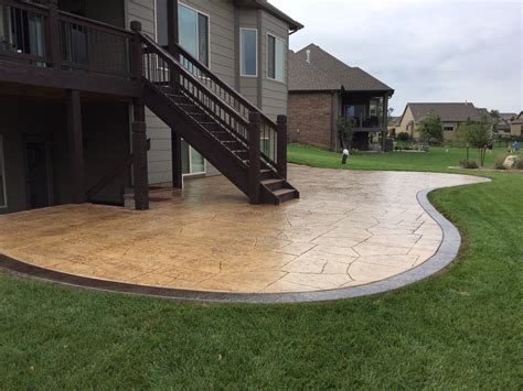 small concrete patio designs patio designs pool remodeling wichita sted concrete