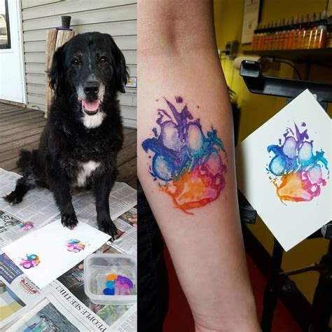 pet tattoo are quot branding quot themselves with paw tattoos