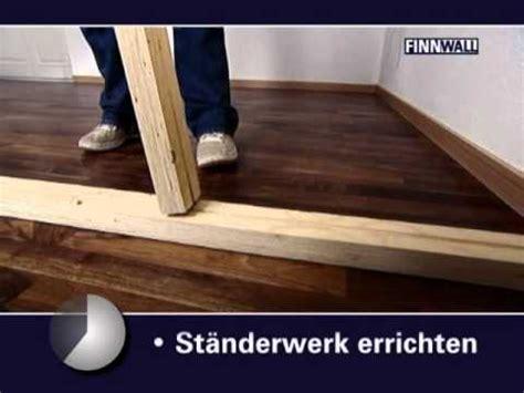 Trockenbauwand Aus Holz by Finnwall Holz Rahmensystem Montagefilm