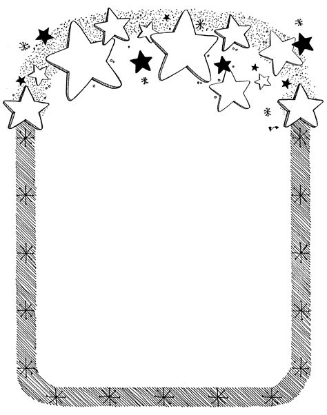 star border coloring page mormon share star border object lessons clip art