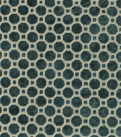 Turquoise Velvet Upholstery Fabric by Upholstery Fabric Robert Allen Velvet Geo Turquoise At