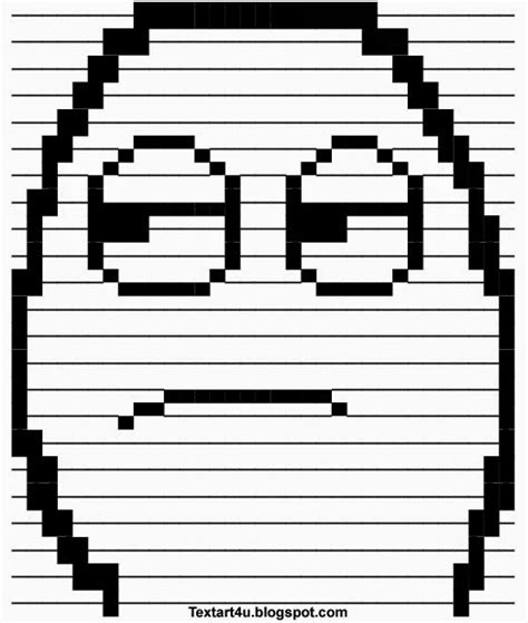 Meme Text Art - dude come on rage face ascii text art cool ascii text