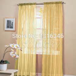 Sheer Gold Curtains Gold Sheer Window Panels Promotion Shop For Promotional Gold Sheer Window Panels On Aliexpress