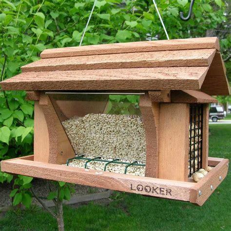 Wooden Bird Feeders Hanging Wooden Bird Feeders Birdcage Design Ideas