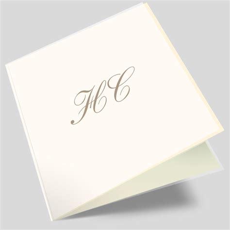 Hochzeitskarten Einladung Edel by Hochzeitseinladungskarte Elegante Initialien