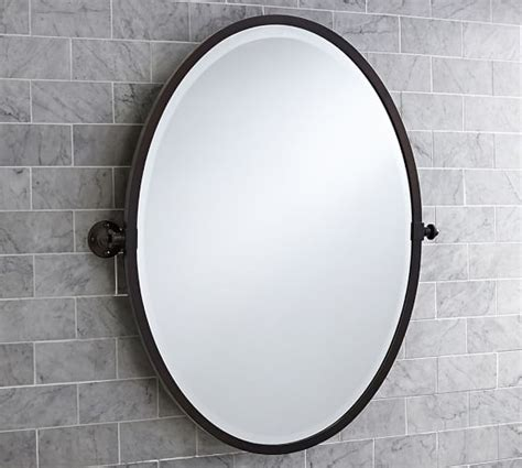 oval shaped bathroom mirrors best decor things kensington pivot oval mirror pottery barn