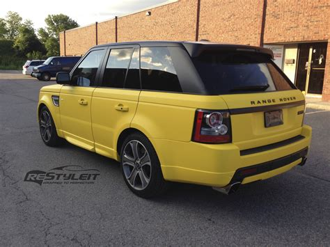 land rover yellow matte yellow range rover sport vehicle customization