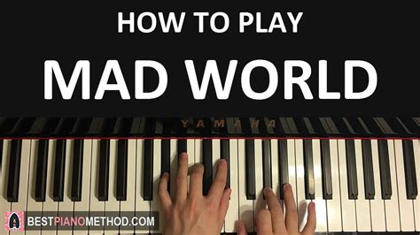 Tutorial Piano Mad World   how to play gary jules mad world piano tutorial