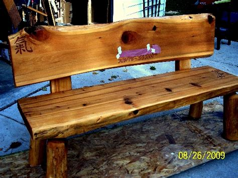 how to make a cedar bench cedar log bench plans pdf woodworking