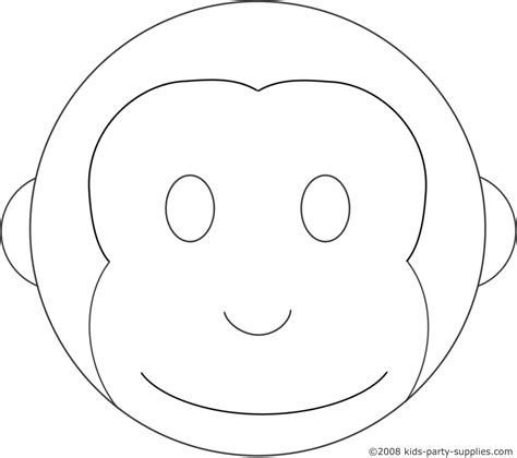 Monkey Birthday Cake Template monkey cake template birthday ideas