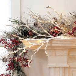 snow covered lighted willow branch electric rustic