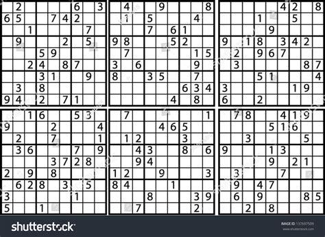 sudoku 768 symmetrical puzzles your brain sudoku your brain volume 1 books sudoku medium level stock vector 137697509