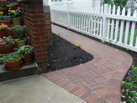 Design Ideas For Brick Walkways Brick Walkway Wheeling Il Photo Gallery Landscaping Network