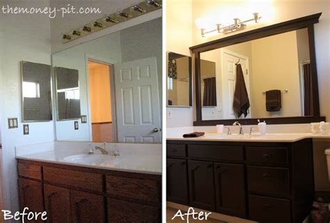 bathroom mirror trim ideas framing a mirror without miter cuts the six fix