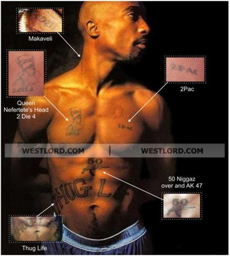 tupacs tattoos tupac s tatoos westsidemusic