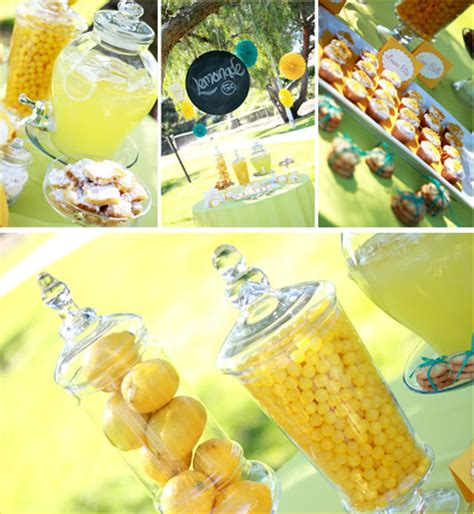 summer party ideas citrus themed peach pizzazz sweet and sour summer party inspiration