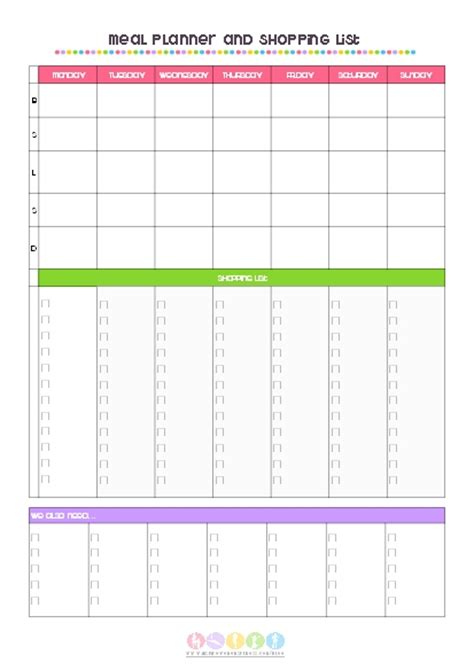 7 day meal planner template 7 day dinner planner template related keywords 7 day