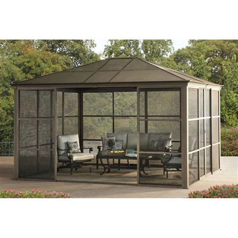hardtop pavillon 3x4 gazebo design astonishing portable gazebo with screen