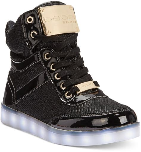 bebe sport krysten high top light up sneakers