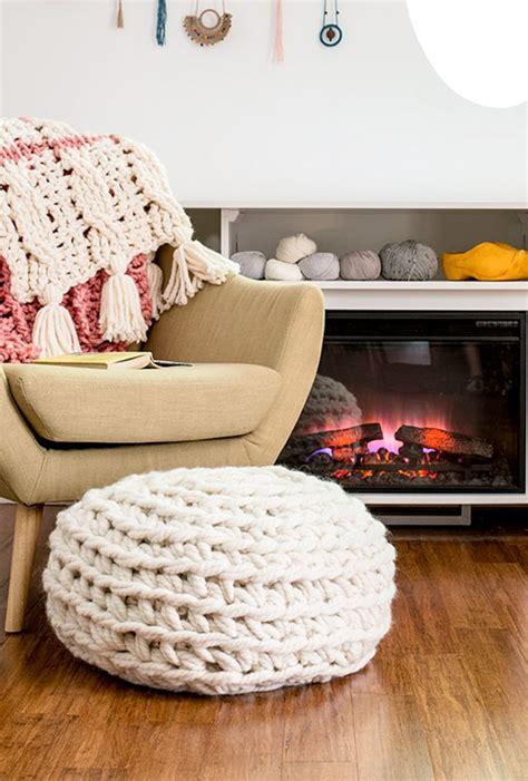 no sew pouf ottoman 25 best ideas about chunky crochet on pinterest chunky